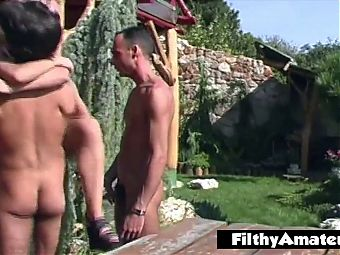 Beautiful exhibitionist sluts thirsty for cock