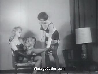 Two Villains and one Damsel in Fetish Distress (1950s Vintage)
