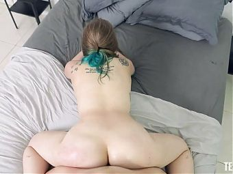 Hardcore sex with the green haired girl